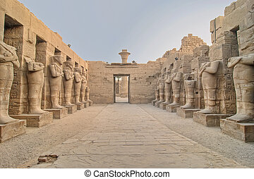 karnak, templo, en, luxor