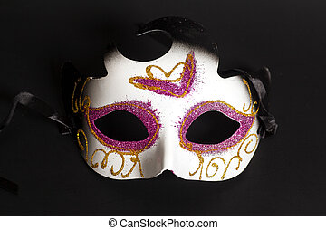 karneval schablone, auf, a, schwarzer hintergrund