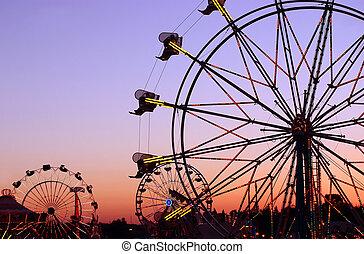 karneval, silhouettes
