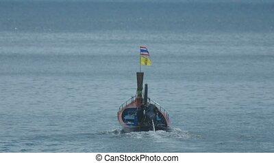 karon, thaï, voiles, plage, bateau