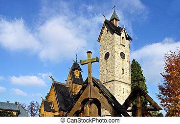 Karpacz, the wooden church Vang