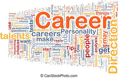 karriär, bakgrund, begrepp