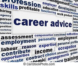 karrier, poszter, tanács, alkalmazás, tervezés