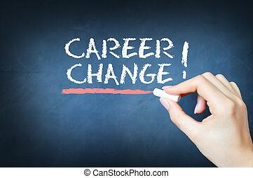 karriere, start, begriff, neu