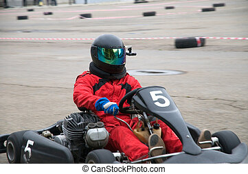 Kart racing - Competitions on go-cart racing on the city...