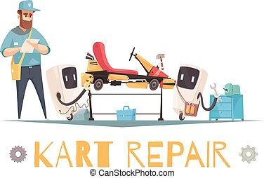 Kart Repair Illustration