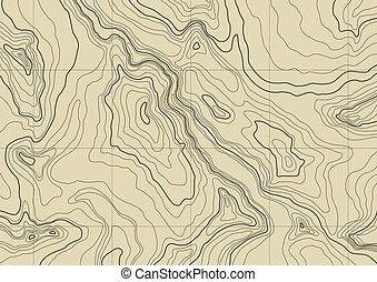 karta, abstrakt, topografisk