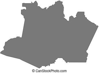 karta amazonas Markerad, karta, amazonas, brasilien. Brasilien, karta, amazonas  karta amazonas