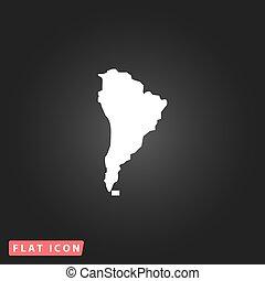 karta, amerika, syd