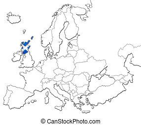 karta, av, skottland
