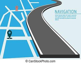 karta, baner, lokalisering