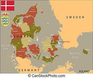 Karta Danmark Stock Photo Bilder 4 298 Karta Danmark Royalty Fria