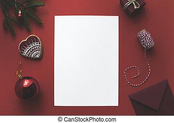 karta, gwiazdkowe ozdoby, czysty