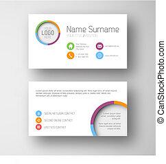 karta, interfejs, szablon, biały, handlowy, nowoczesny, ...
