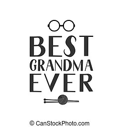 karta, kartka pocztowa, babka., redagować, szablon, itd., ręka, wektor, odpoczynek, najlepszy, knitting., okulary, powitanie, afisz, babunia, kiedykolwiek, dzień, chorągiew, dziadkowie, kubek, tytuł, t-shirt