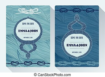 karta, morski, ślub