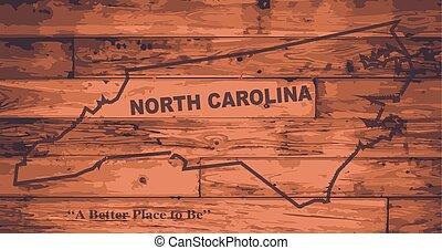 karta, norr, brännmärka, carolina