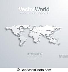 karta, nyttig, infographics, vektor, illlustraion., värld, 3