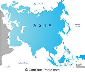 karta, politisk, eurasien