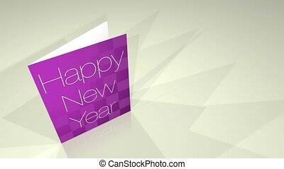 karta, powitania, rok, nowy, hd, szczęśliwy