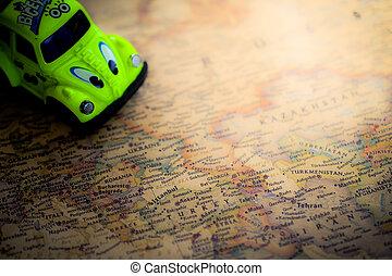 karta, resa, planer, bakgrund