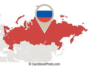 karta, ryssland, värld