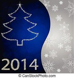 karta, s, vánoce kopyto, od, zlatý hřeb