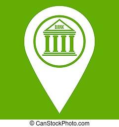 karta stift, ikon, grön