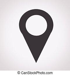 karta stift, ikon, kartläggande, nålen, ikon, karta stift