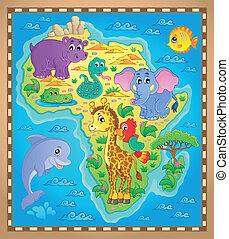 karta, tema, 2, afrika, avbild