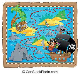 karta, tema, sjörövare, avbild, 3
