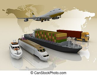 karta, transport, bakgrund, slagen, värld