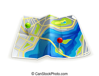 karta, väg
