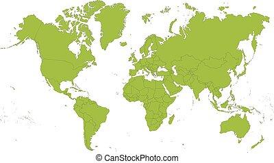 karta, värld
