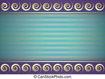 karta, (vector), błękitny, miejsce, tekst, pasiasty