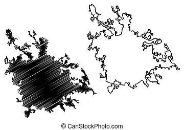 karta, vektor, rom, roma, skiss, republik, klottra, italy), illustration, stad, (italian