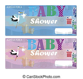 karte baby shower - baby shower invitation new baby , it's a...