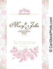 karte, einladung, wedding