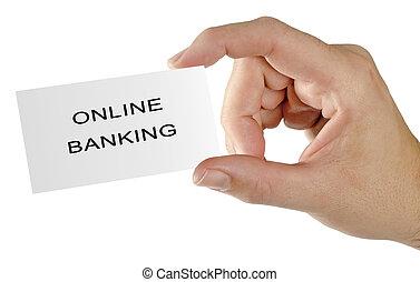 karte, für, e-bankwesen
