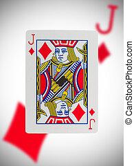 Karte, spielende, wagenheber