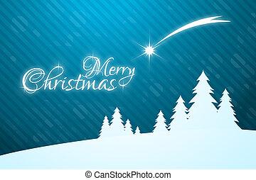 karte, stern, gruß, frohe weihnacht