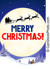 karte, -, weihnachten, fröhlich, christmas!