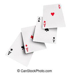 karten, feuerhaken, kasino, spielende