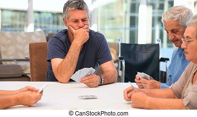 karten, friends, spielende