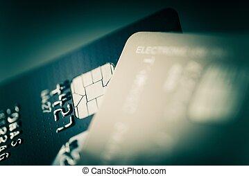 karten, kredit, closeup, foto