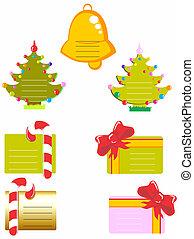 karten, weihnachten, sammlung