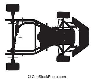 Karting Car Vector