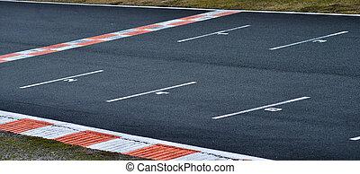 karting, circuit-starting, línea