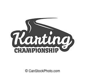 Karting club or kart races championship track vector...
