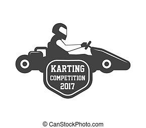 Karting club or kart races championship sportcar vector...